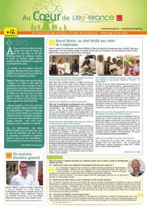 Newsletter aux amis et bienfaiteurs de L'espérance - n°12 - septembre 2017
